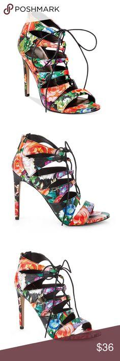 1b119076ce4 NWT Madden Girl Raceyyy Floral Gladiator Heels
