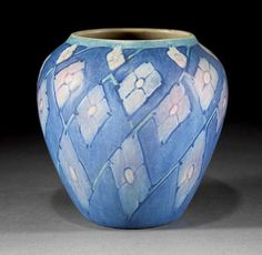 Newcomb College Art Pottery Vase, decorated by Sadie Irvine, 1932.