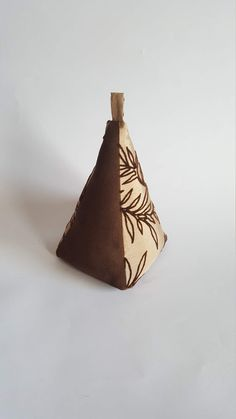 Excited to share the latest addition to my #etsy shop: Fabric Doorstop, Pyramid Shaped, Textured Brown Foilage, Fabric Door Stop https://etsy.me/2Kkx5Cj #housewares #homedecor #brown #housewarming #beige #pyramidshaped #tan #neutral #doorstop