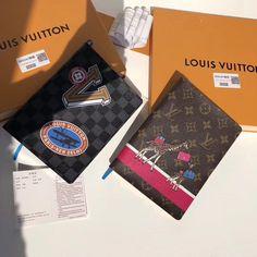Louis Vuitton lv notebook Louis Vuitton Passport Cover, Luxury Bags, Custom Clothes, Wallets, Goodies, Notebook, Gift Ideas, Handbags, Money