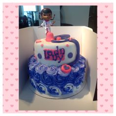 Tiered a Doc Mcstuffins Cake