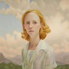 Listening For Foxes | From a unique collection of portrait paintings at https://www.1stdibs.com/art/paintings/portrait-paintings/