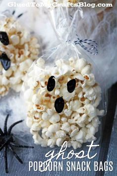 Effortless Ghost Popcorn Treat Bolsas