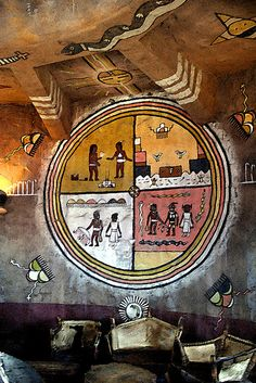 Native American Mural, Desert View Watchtower by Jay Tilston, via Flickr
