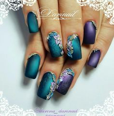 """Beautiful nails by - Swan Nails page is dedicated to promoting quality, inspirational nails created by International Nail Artists Find…"" Fabulous Nails, Gorgeous Nails, Pretty Nails, Beautiful Nail Designs, Beautiful Nail Art, Hot Nails, Hair And Nails, Purple Nails, Peacock Nails"