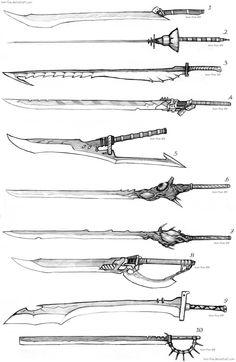 Sword Designs 4 by Iron-Fox on DeviantArt