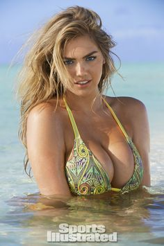Kate Upton print bikini is another top favorite--why did they give her all the good swimsuits this year?