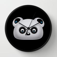 Panda Bear Wall Clock,  By VanessaGF