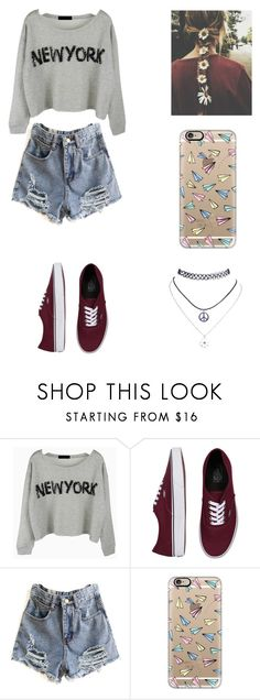 """""""Sin título #192"""" by karenrodriguez-iv on Polyvore featuring moda, Vans, Casetify y Wet Seal"""