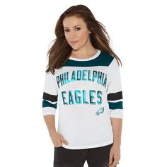 Touch by Alyssa Milano NFL Gridiron Tee Philadelphia Eagles