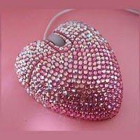 Swarovski Heart Computer Mouse... ♥