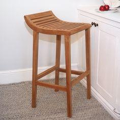 Teak Wood Bar Stool #barstool #counterstool #kitchenstool