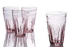 S/4 Bistro Glasses, Lavender