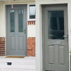If you have a upvc or composite door and don't have the budget for a new one. You can paint it. The trick is a good primer. Lenehans and woodies stock Fleetwood UPVC and plastic primer Pat … Exterior Patio Doors, Doors, Midhurst, Front Door, House Painting, Painting Plastic, Composite Front Door, Painted Front Doors, Upvc