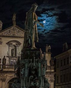 "(@wonderful_prague) on Instagram: ""In the middle of the night in the middle of Prague 🌙 Picture from the Knights of the Cross Square…"""