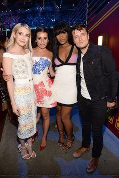 Emma Roberts, Lea Michele, Keke Palmer and Josh Hutcherson at the 2015 Teen Choice Awards