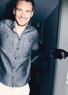 Michael Fassbender; #ComedinewithFV guest number one! Because... damn. Can't resist that Irish charm!