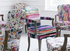 The Iridescence Range by Voyage. Available at Rodgers of York. Interior Decorating, Decorating Ideas, Soft Furnishings, Interior Inspiration, Fabric Design, Sofas, Innovation, Upholstery, Armchair