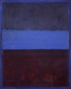 No.61 (Rust and Blue) Artist: Mark Rothko Completion Date: 1953 Style: Color Field Painting Genre: abstract Technique: oil on canvas Dimensions: 115 x 92 cm