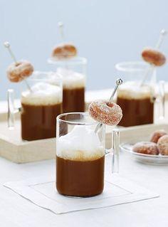 mini donuts and coffee