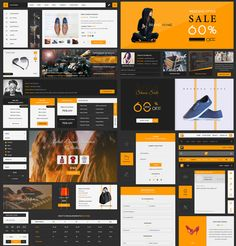 Cool eCommerce UI Kit Free PSD Template. Download eCommerce UI Kit Free PSD Template. This huge eCommerce ui kit PSD will help you speed up and create elegant eCommerce Website or Shopping app designs. All components are well layered and easy to customise. The colors used in the kit are orange, black and very well balanced which is giving it a modern look. This freebie contains a lot of...