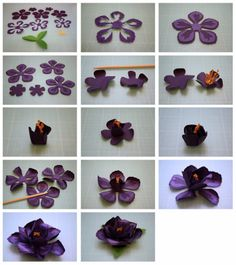 More 3d paper flowers flowers paper pinterest 3d paper 3d layered rose and penstemon paper flowers mightylinksfo