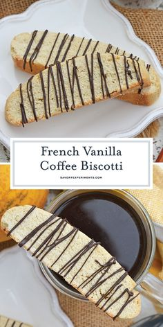 Vanilla Mocha Biscotti are easy to make and perfect for pairing with coffee or t.Vanilla Mocha Biscotti are easy to make and perfect for pairing with coffee or tea. Subtle coffee, vanilla and chocolate flavors make them suitable for any occa Vanilla Biscotti Recipes, Best Biscotti Recipe, Chocolate Biscotti Recipe, Chocolate Flavors, Biscotti Flavors, Cinnamon Biscotti Recipe, Gluten Free Biscotti Recipe, Chocolate Recipes, Biscuits