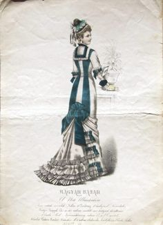 Dress, ca 1880 (?) Austria-Hungary, Magyar Bazár #victorian #fashion #illustration