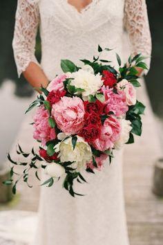 wedding bouquet - romantic snow white