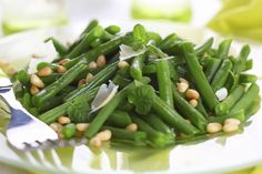 Roasted Green Beans with Lemon, Pine Nuts & Parmigiano | Udi's® Gluten Free Bread