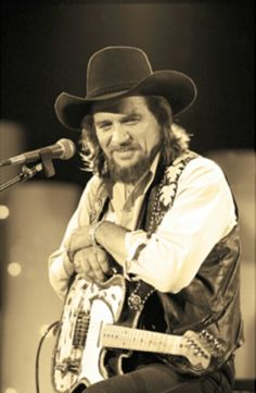 Waylon Jennings 1937-2002, born in Littlefield, TX, country music singer-songwriter, musician