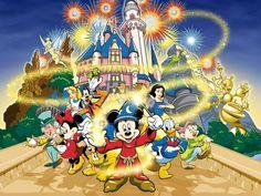 Disney Mickey Mouse and Friends Wallpaper Murals - Architecture and Interior Design Disney Magic, Walt Disney, Disney Parks, Disney Time, Disney Land, Disney Mickey Mouse, Mickey Mouse Y Amigos, Mickey Mouse And Friends, Minnie Mouse