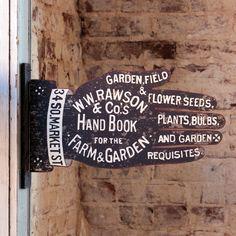 Shop P. Allen - Vintage Garden Shop Sign, $36.00 (http://shop.pallensmith.com/garden/vintage-garden-shop-sign/)