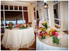 Tropical wedding decor  Destination Wedding at El Conquistador Resort Puerto Rico. ElConResort.com  photo by Tuty Feliciano