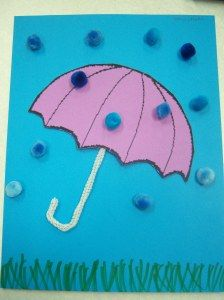 rain craft - could be done as quiet book page...