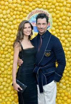 Bianca Balti and David Gandy attend the Dolce Gabbana Light Blue Italian Zest Launch Event at the Nomad Hotel Los Angeles on May 17 2018 in Los...