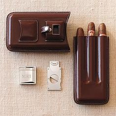 Shop for Weston Leather Cigar Case. Get free delivery On EVERYTHING* Overstock - Your Online Humidors & Cigars Outlet Store! Get in rewards with Club O! Cigars And Whiskey, Good Cigars, Pipes And Cigars, Cuban Cigars, Leather Cigar Case, Cigar Cases, Cigar Room, Groomsman Gifts, Leather Working