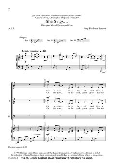 She Sings... (Three-Part Mixed ) by Amy Feld | J.W. Pepper Sheet Music