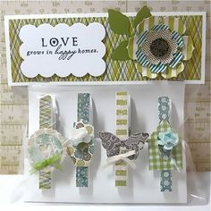 Clothespin magnet gift set by TwoPaperAngels on Etsy, $15.00