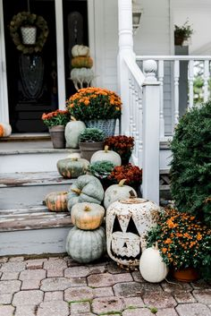 70 Rustic Farmhouse Porch Steps Decor Ideas