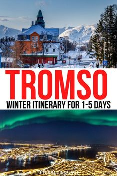 Going to visit Tromso, Norway in winter? Here is the perfect Tromso Itinerary for 1, 2, 3, 4, or 5 days in Tromso! Tromso winter itinerary | things to do in Tromso in winter | Tromso northern lights | Tromso dog sledding | Tromso reindeer sledding | winter in Tromso itinerary | Tromso itinerary for winter | itinerary for Tromso Norway | Northern Norway itinerary Tromso Northern Lights, Northern Lights Tours, See The Northern Lights, Polar Night, Ice Hotel, Whale Watching, City Break, Culture Travel, Reindeer