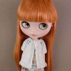 Cream Short Sleeved Cardi for Blythe by myfairdolly on Etsy, $12.00