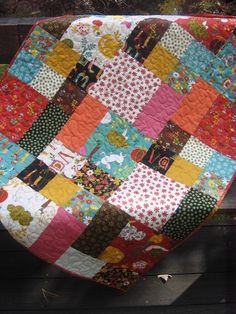 Quilt Pattern.....Baby and large Lap size, Easy and Quick ... Flowers in the Garden. $9.00, via Etsy.