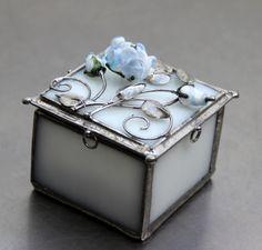 KRABIČKA ZÁMECKÁ RŮŽE V BLANKYTU Decorative Boxes, Decorative Storage Boxes