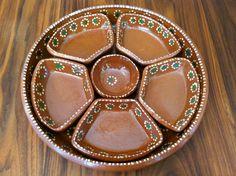 Vintage TLAQUEPAQUE MEXICAN Pottery Tray/ Appetizer Tray