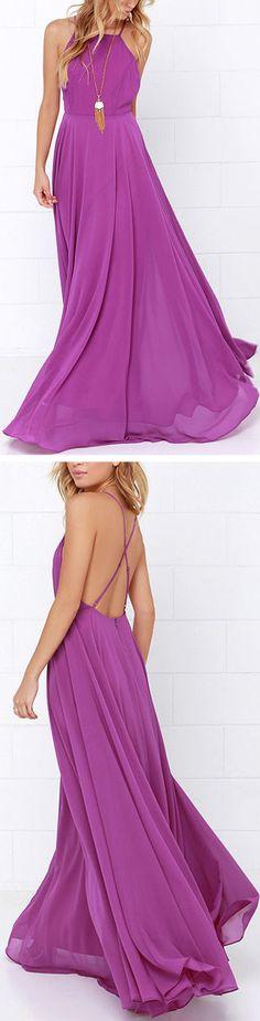 Love Purple Maxi Dress ❤︎ #bridesmaid #wedding #dress