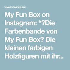 """My Fun Box on Instagram: """"🌈Die Farbenbande von My Fun Box🌈 Die kleinen farbigen Holzfiguren mit ihrer passenden Station erfreuen grosse und kleine Herzen🥰 Mit diesen…"""" Box, Instagram, Wooden Figurines, Game, Studying, Snare Drum, Boxes"""