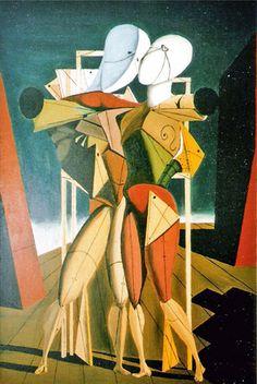 Ettore e Andromaca - De Chirico Abstract, Artwork, Painting, Blog, De Chirico, Trendy Tree, Art, Psicologia, Summary