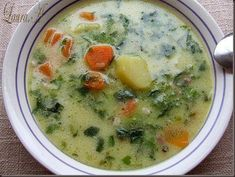 Ciorba de zarzavat - vegetable soup - brought to you,courtesy of IndyCabs Sittingbourne; your local dependable passenger taxi service, based in Sittingbourne,Kent,United Kingdom. www.indycabs.co.uk   01795350035 Healthy Cooking, Healthy Eating, Rome Food, Soup Recipes, Cooking Recipes, Veg Soup, Bisque Recipe, Romanian Food, Vegan Foods