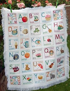 Bouncing Baby's ABC Afghan by Lucie Heaton